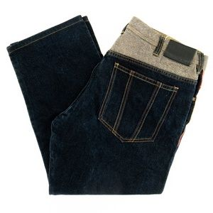 Sean John Jeans Two-Tone Color Block Loose Fit 40